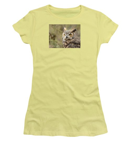 Women's T-Shirt (Junior Cut) featuring the photograph The Owl by Lucinda Walter