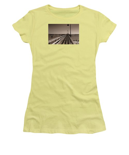 Women's T-Shirt (Junior Cut) featuring the photograph The Pier by David Jackson