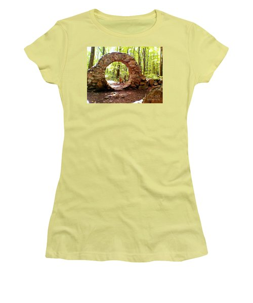 The Portal To Love Life Peace Women's T-Shirt (Athletic Fit)