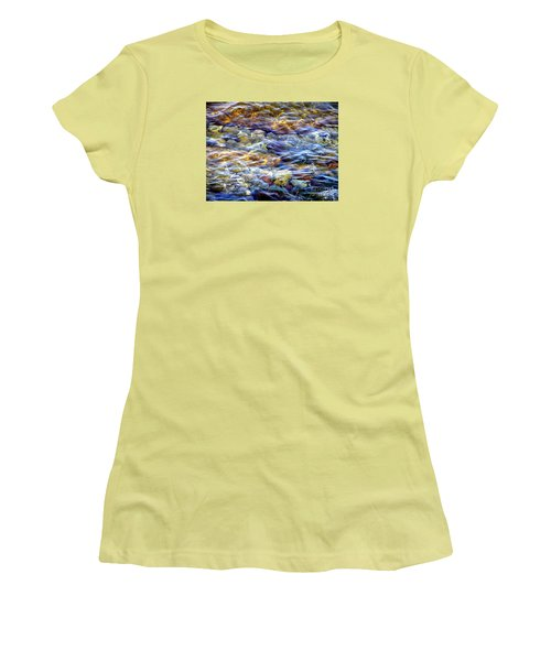 Women's T-Shirt (Junior Cut) featuring the photograph The River by Susan  Dimitrakopoulos