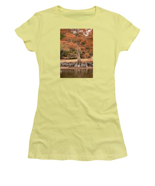 Women's T-Shirt (Junior Cut) featuring the photograph The Root Of It All by Rebecca Davis