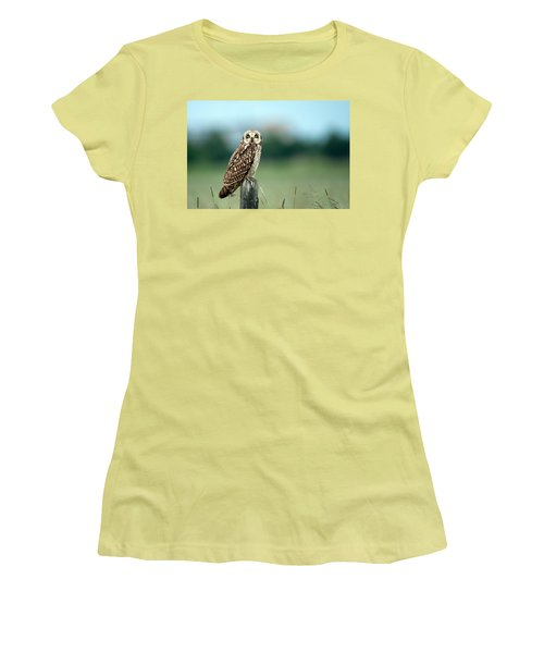 The Short-eared Owl  Women's T-Shirt (Athletic Fit)
