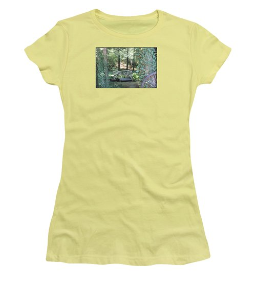 Women's T-Shirt (Junior Cut) featuring the photograph The Path by Debra     Vatalaro