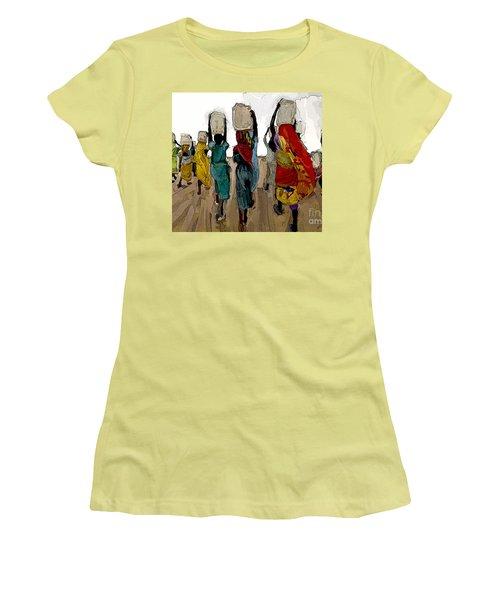The Water Workers Women's T-Shirt (Junior Cut) by Vannetta Ferguson