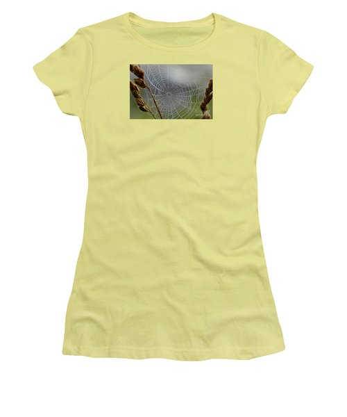 Women's T-Shirt (Junior Cut) featuring the photograph The Web by Kerri Farley