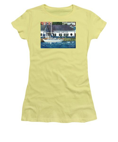 The Yacht Club Women's T-Shirt (Junior Cut) by LeAnne Sowa