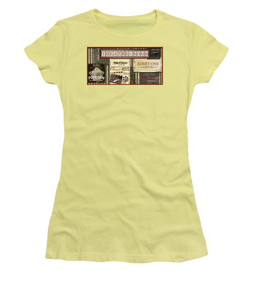 Theatre Room Women's T-Shirt (Junior Cut) by Jean Plout
