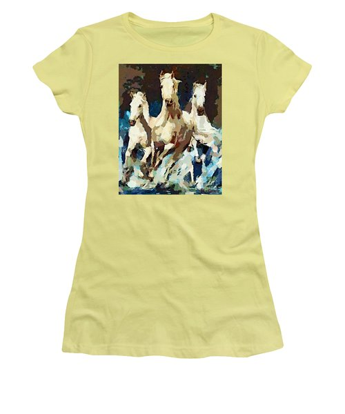 Three Lipizzans Women's T-Shirt (Athletic Fit)