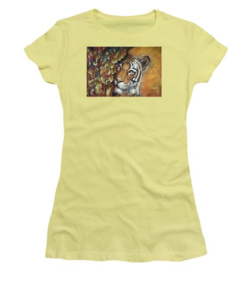 Tiger 300711 Women's T-Shirt (Junior Cut) by Selena Boron