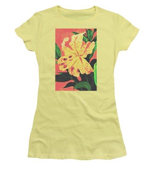 Tiger Lily Women's T-Shirt (Junior Cut) by Sophia Schmierer