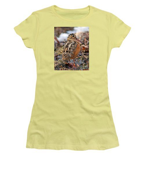 Timberdoodle The American Woodcock Women's T-Shirt (Athletic Fit)