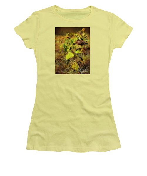 Women's T-Shirt (Junior Cut) featuring the digital art Time Is The Enemy by Rhonda Strickland