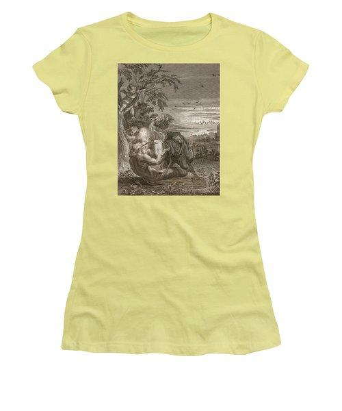 Tithonus, Auroras Husband, Turned Into A Grasshopper Women's T-Shirt (Athletic Fit)
