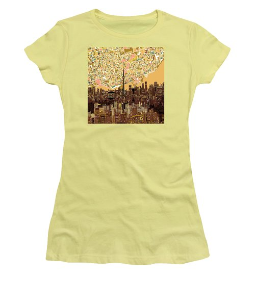 Toronto Skyline Abstract 9 Women's T-Shirt (Athletic Fit)