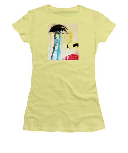Women's T-Shirt (Junior Cut) featuring the painting Tougher Than You Think 2 by Michael Cross