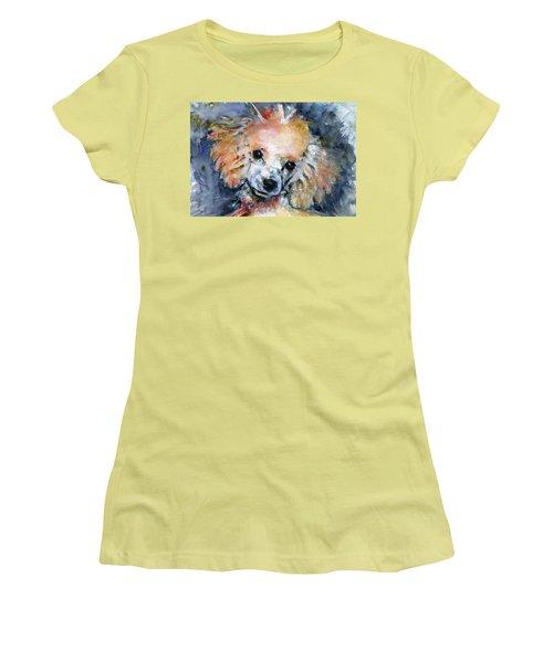 Toy Poodle Women's T-Shirt (Junior Cut) by John D Benson