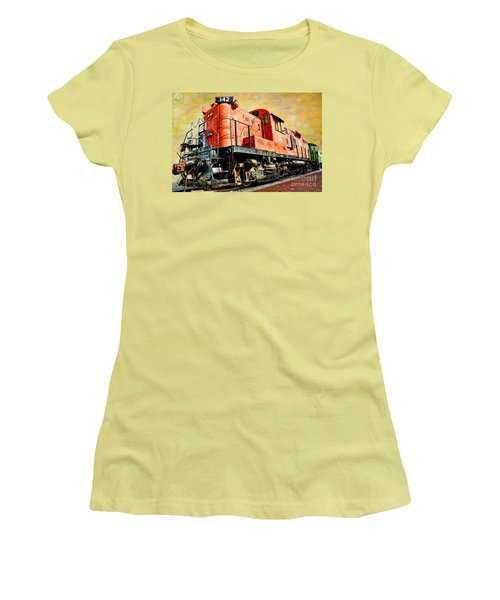 Train - Mkt 142 - Rs3m Emd Repowered Alco Women's T-Shirt (Athletic Fit)
