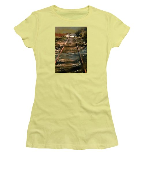 Train Track To Hell Women's T-Shirt (Junior Cut) by RC deWinter