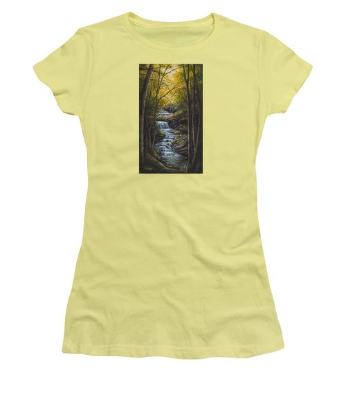 Tranquility Women's T-Shirt (Junior Cut) by Kim Lockman