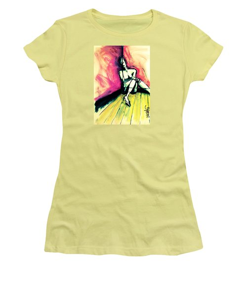 Women's T-Shirt (Junior Cut) featuring the drawing Transparent by Helen Syron