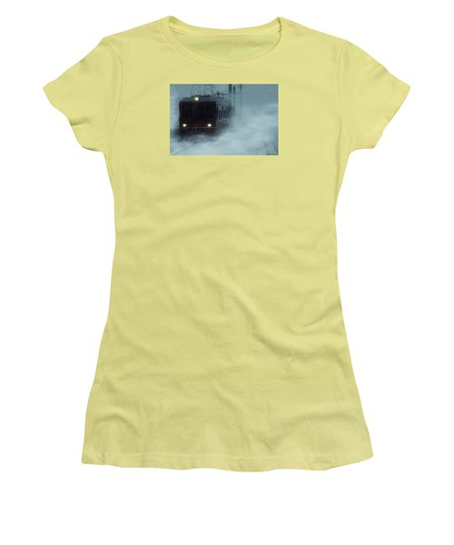 Traveling In The Snow... Women's T-Shirt (Junior Cut) by Vittorio Chiampan