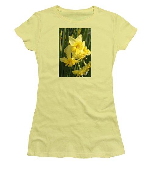 Tripartite Daffodil Women's T-Shirt (Junior Cut) by Judy Whitton