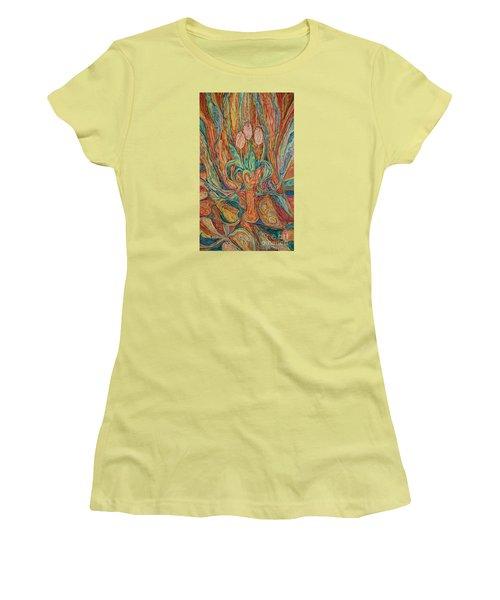 Tulips I Women's T-Shirt (Junior Cut) by Anna Yurasovsky
