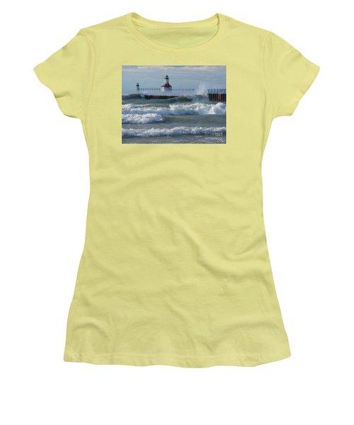 Tumultuous Lake Women's T-Shirt (Junior Cut) by Ann Horn