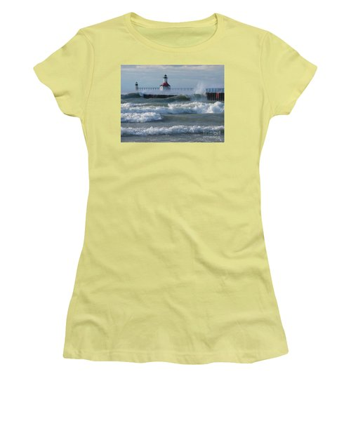 Tumultuous Lake Women's T-Shirt (Athletic Fit)