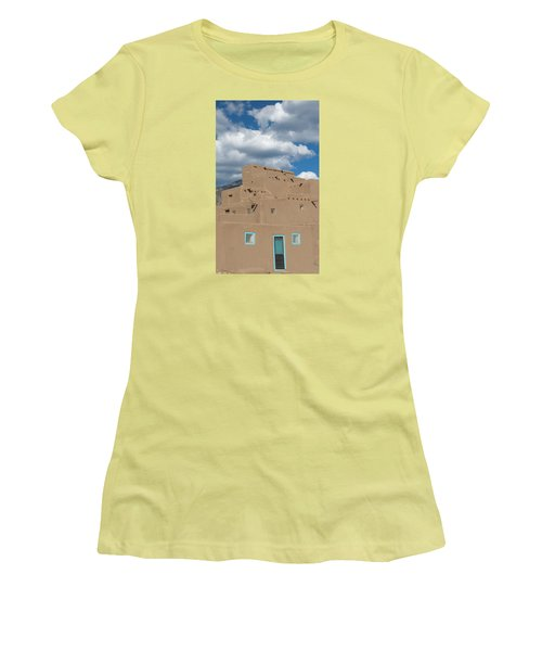 Turquoise Door And Windows Women's T-Shirt (Athletic Fit)