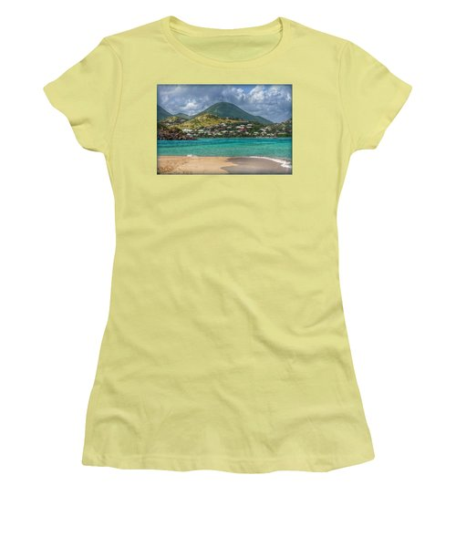 Women's T-Shirt (Junior Cut) featuring the photograph Turquoise Paradise by Hanny Heim