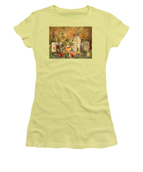 Tuscan Wine Treasures Women's T-Shirt (Junior Cut) by Jean Plout