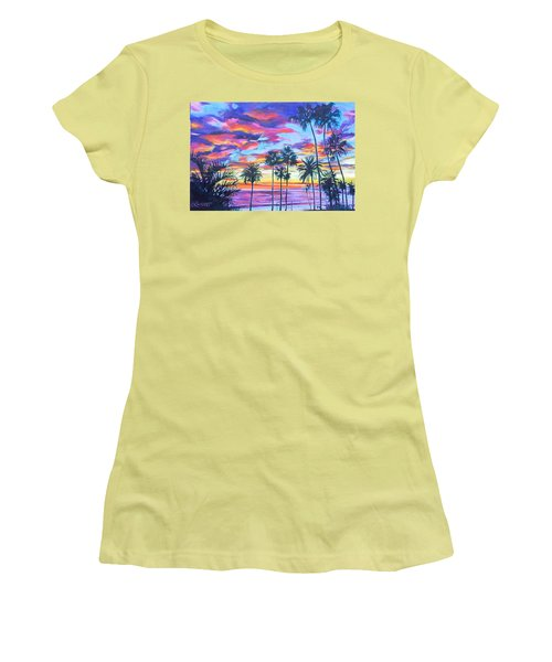 Twilight Palms Women's T-Shirt (Athletic Fit)