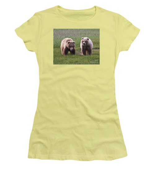 Twin Bear Cubs Women's T-Shirt (Athletic Fit)