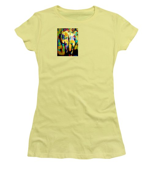 Women's T-Shirt (Junior Cut) featuring the painting Two Nudes by Helena Wierzbicki