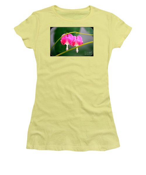 Women's T-Shirt (Junior Cut) featuring the photograph Two Of Hearts by Patti Whitten