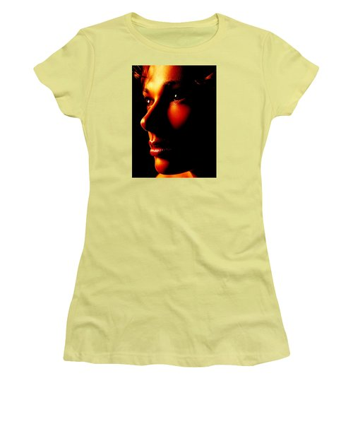 Two Tone Portrait Women's T-Shirt (Athletic Fit)