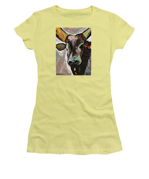 Ugandan Long Horn Cow Women's T-Shirt (Athletic Fit)