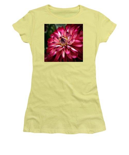Dahlia Unfolding Women's T-Shirt (Junior Cut) by Athena Mckinzie