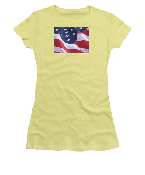 United States Flag  Women's T-Shirt (Athletic Fit)