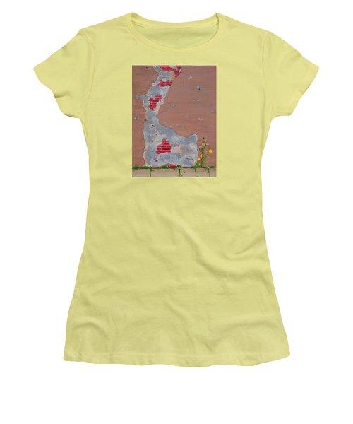 Unmasking The Red Brick Wall Women's T-Shirt (Junior Cut) by Donna  Manaraze