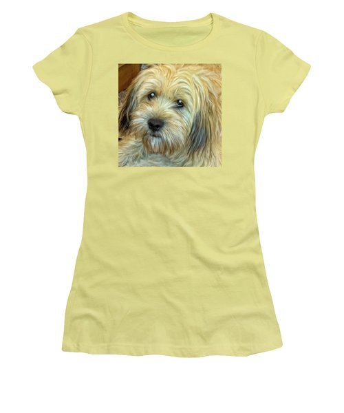 Women's T-Shirt (Junior Cut) featuring the painting Chewy by Michael Pickett