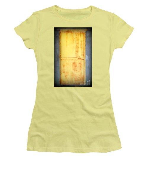 Women's T-Shirt (Junior Cut) featuring the photograph Unused Door by Clare Bevan