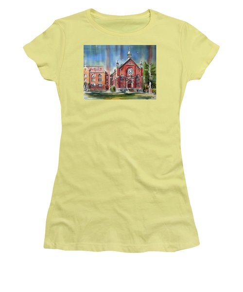 Ursuline Academy With Doves Women's T-Shirt (Junior Cut) by Kip DeVore