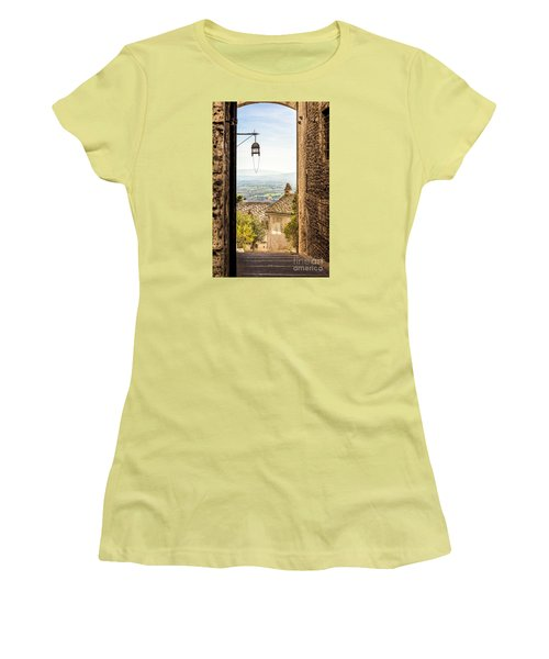 Valley Outside Assisi Women's T-Shirt (Athletic Fit)