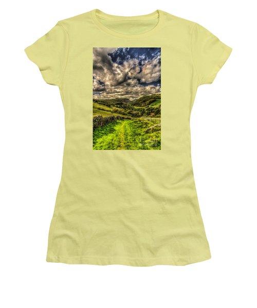 Valley View Women's T-Shirt (Junior Cut) by Steve Purnell