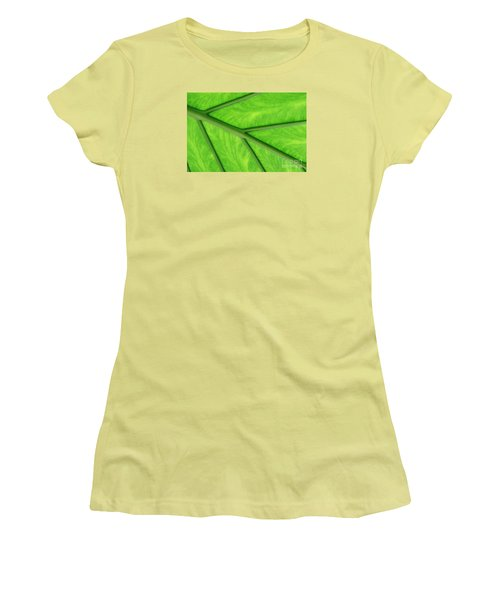 Women's T-Shirt (Junior Cut) featuring the photograph Veins Of Life by Judy Whitton