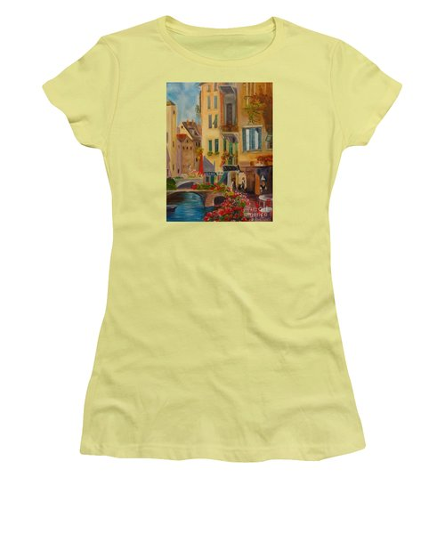 Venic Canal 1 Women's T-Shirt (Junior Cut) by Jenny Lee