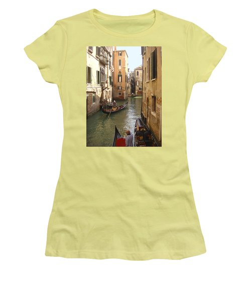 Venice Gondolas Women's T-Shirt (Athletic Fit)