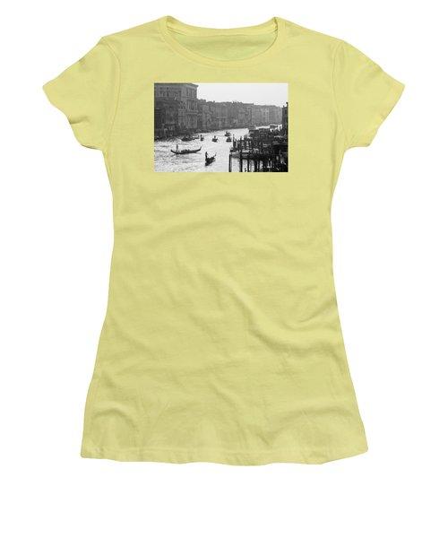 Venice Grand Canal Women's T-Shirt (Junior Cut) by Silvia Bruno
